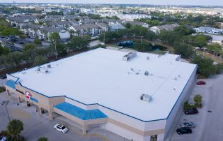 Around The Clock Fort Myers FL by Target Roofing Drone Image Side