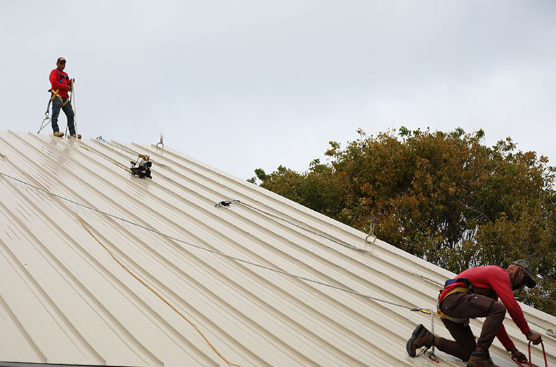 Target Roofing Safety Image While Roofing