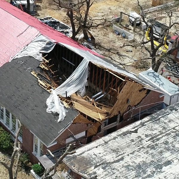 Destroyed Commercial Roof