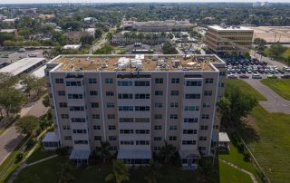 Riverside Club Project by Target Roofing Drone Shot High