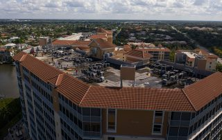 Regatta Reroof by Target Roofing - Angled Drone Image