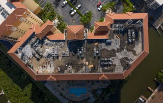Regatta Reroof by Target Roofing - Drone Image