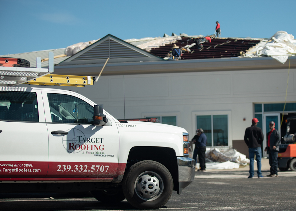 Photo - Target Roofing hurricane damage