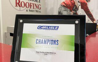 Award for Target Roofers Fort Myers FL